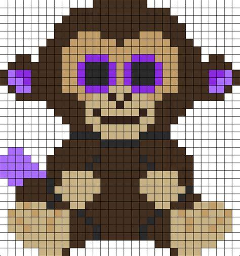 perler monkey pattern coconut monkey beanie boo perler bead pattern bead