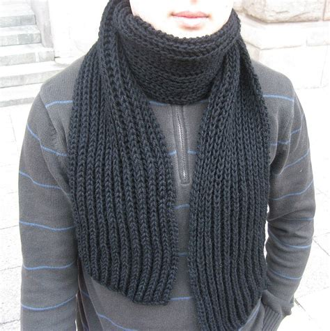mens knitted scarf patterns a manly patterns knitted scarves for free