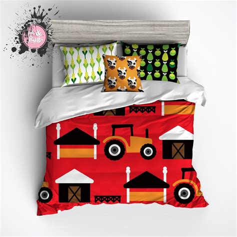 tractor bedding set farm tractor duvet bedding sets ink and rags