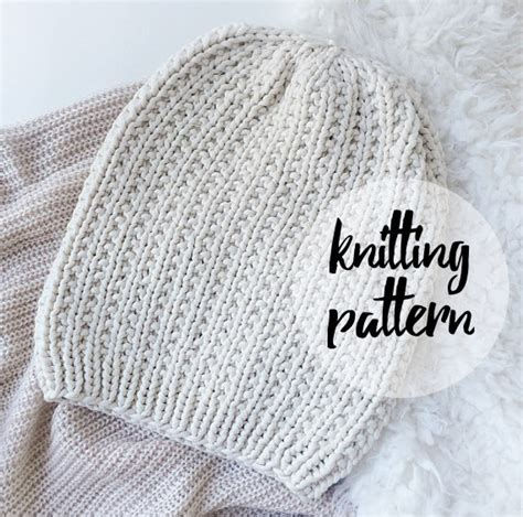slouchy beanie knitting pattern for beginners slouchy hat beanie knitting pattern by knittingwonders