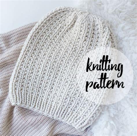 beginner knit hat pattern needles slouchy hat beanie knitting pattern by knittingwonders
