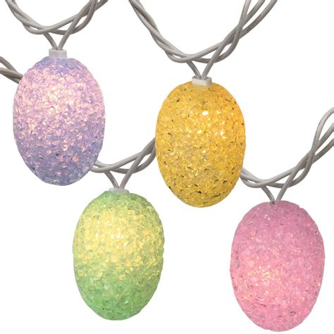 pastel easter lights pastel colored easter egg string lights 10 lights