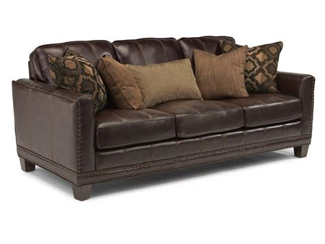flexsteel leather sofa flexsteel living room leather sofa 1373 31 the sofa