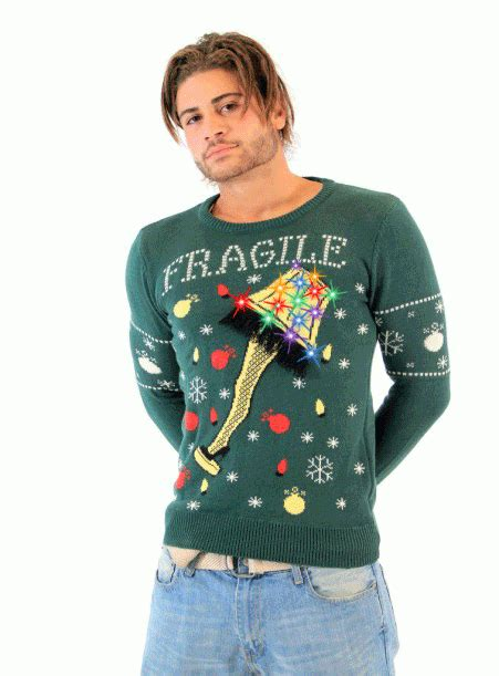 Sweaters With Lights And by A Story Fragile Leg L Light Up Led Lighting