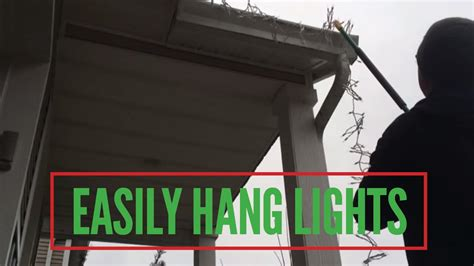 easy hang lights easily hang lights without a ladder