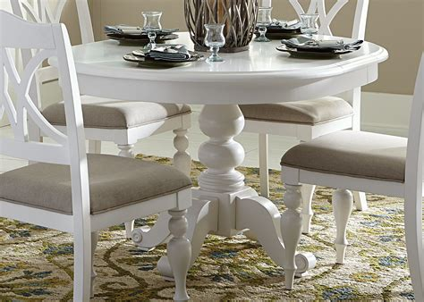 white pedestal dining table summer house oyster white oyster white pedestal