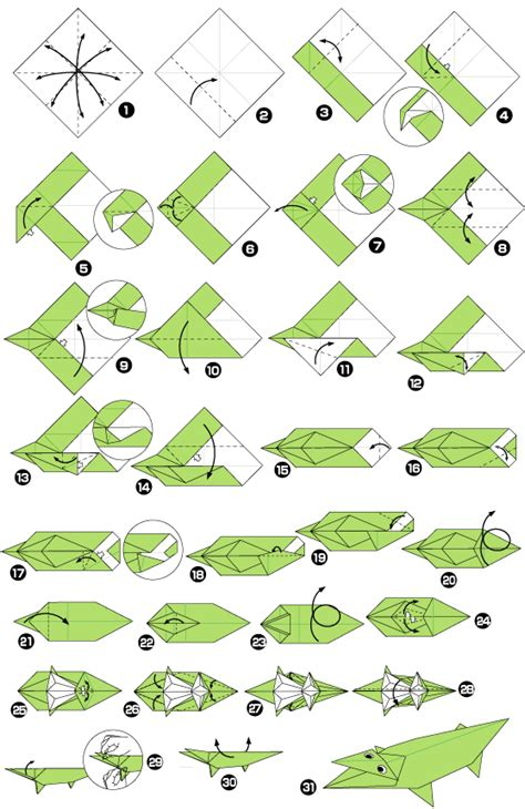 Origami Of Alligator