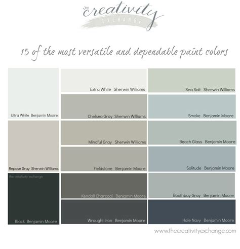 colors that look with grey 15 of the most versatile and dependable paint colors all