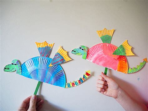 learn paper crafts learn with play at home simple paper plate craft