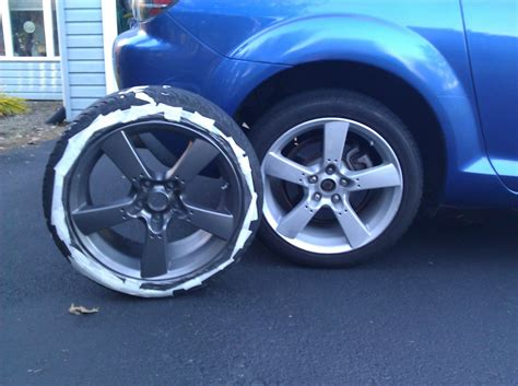 spray painting wheels diy painting your oem rims rx8club
