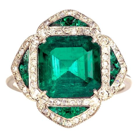 emerald jewellery emerald ring at 1stdibs