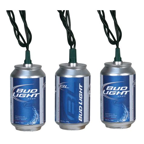 miller lite string lights bud light can string lights set