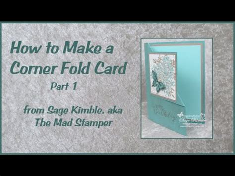 how to make a folding card how to make a corner fold card part 1