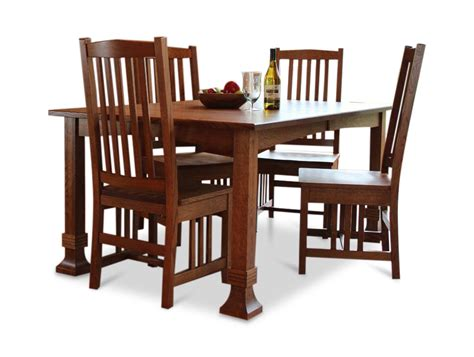 amish table and chairs amish mission quartersawn white oak table and 4 side