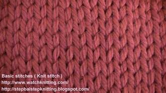 different knit stitch patterns 187 tutorial 2 knit stitch