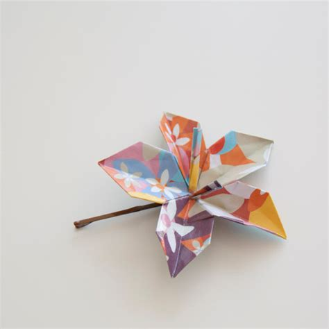 how big is origami paper big flower paper origami hair pin flowery