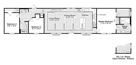 palm harbor mobile home floor plans the santa fe ff16763g manufactured home floor plan or