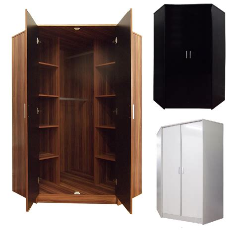corner bedroom furniture khabat high gloss 2 door corner wardrobe bedroom furniture