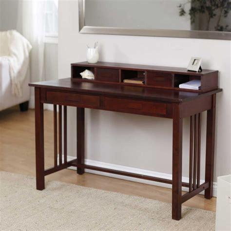 small desks with hutch simple writing desks for small spaces homesfeed