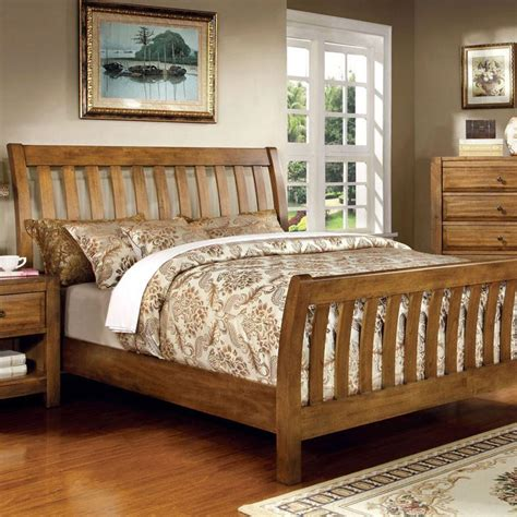 country bed sets conrad country style rustic oak finish bed frame set ebay