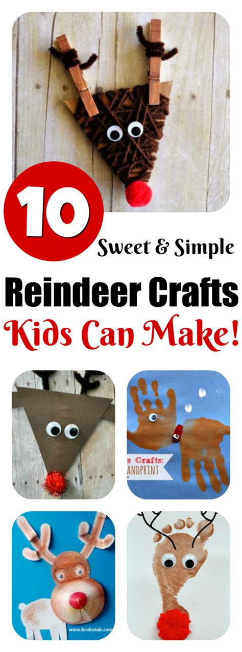 crafts can make reindeer crafts can make 10 ideas letters