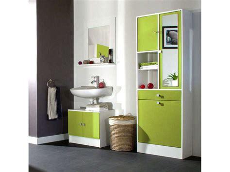 meuble sous lavabo miroir 232 re wave coloris vert vente de meuble et rangement conforama
