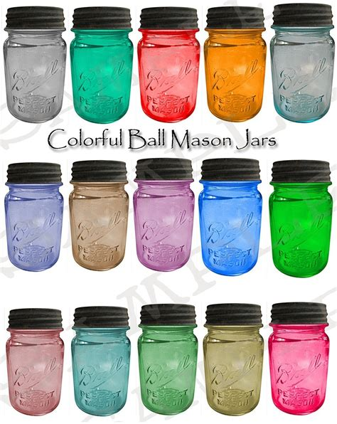 coloured wholesale colorful jars collage sheet by siefert2 on etsy
