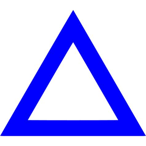 triangle blue blue triangle outline icon free blue shape icons