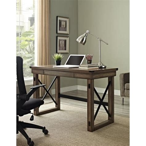 rustic home office furniture altra furniture wildwood rustic w metal frame home office