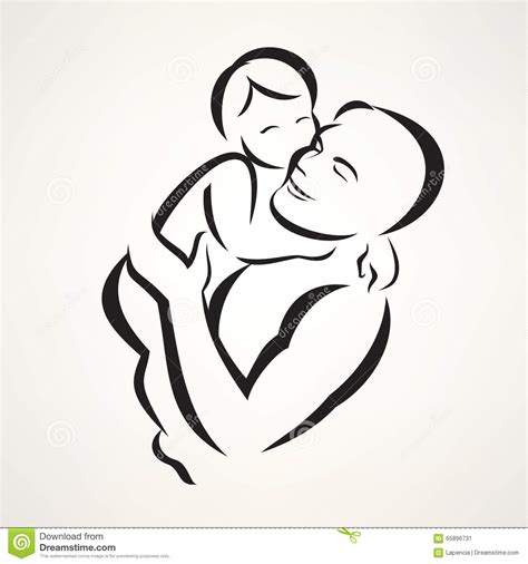 father and baby stock vector image 65896731