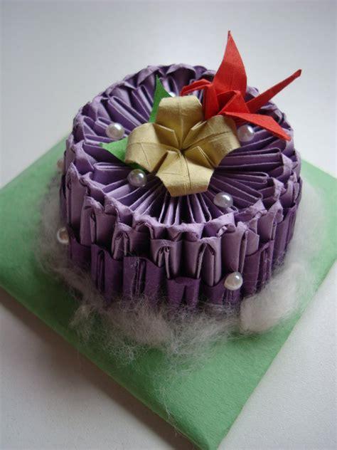 origami birthday cake origami cake by mizzy azn on deviantart