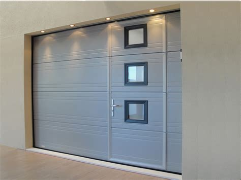 Porte Coulissante Garage 7040 by Porte De Garage Sectionnelle Avec Portillon Gris 7040