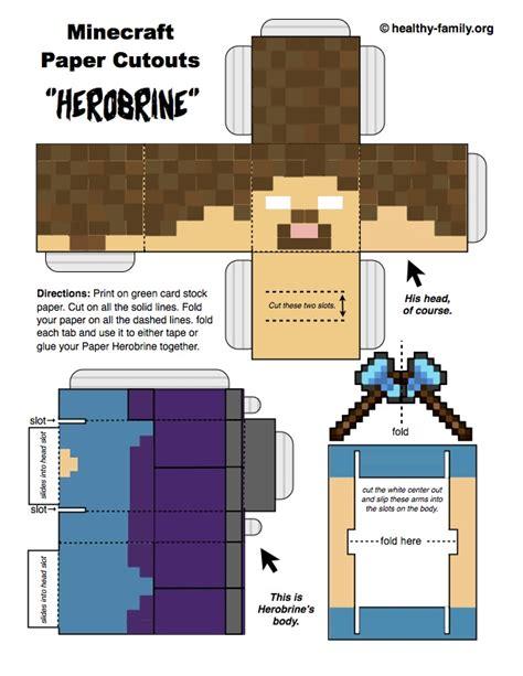 how to craft paper in minecraft minecraft paper crafts get free herobrine steve