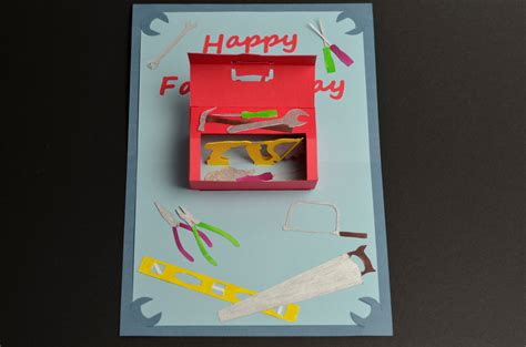 fathers day card to make toolbox pop up card template