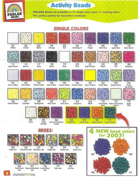 perler bead color chart pin by cheryl geiger on crafts perler