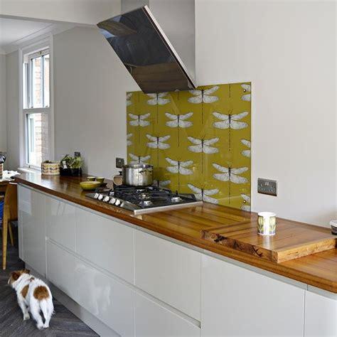 kitchen wallpaper backsplash diy splashback backsplash with wallpaper hometalk