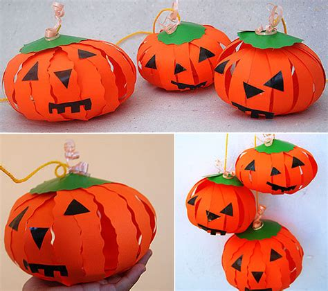 paper pumpkin craft 4 creative pumpkin craft projects made of
