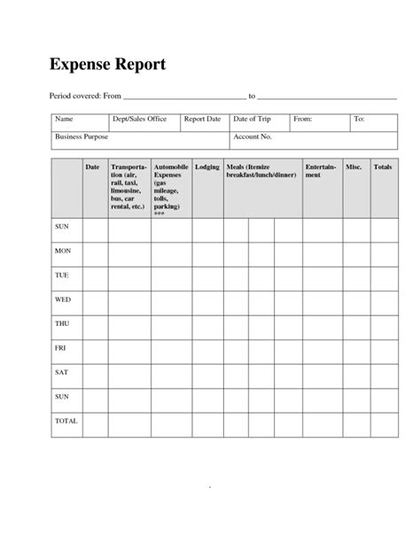 reimbursement invoice template basic expense report template helloalive