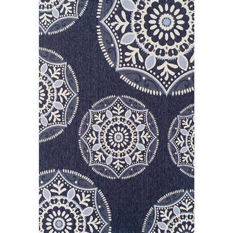 medallion outdoor rug hton bay coastal medallion blue 5 ft 3 in x 7 ft 5