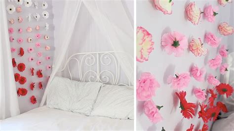 Flower Wall Stickers For Bedrooms apartment decor diy flower wall chains youtube