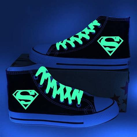 glow in the paint on shoes 2017 paint superman glow in the sneakers glow
