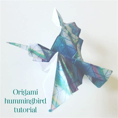 hummingbird origami the paperdashery or how to send happiness