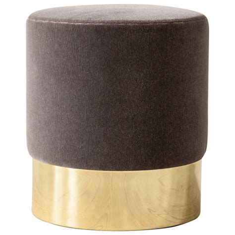 Multifunctional Furniture azucena stool in velvet and brass at 1stdibs