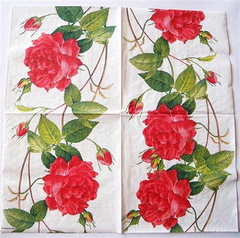 decoupage roses decoupage napkins of chiarotino