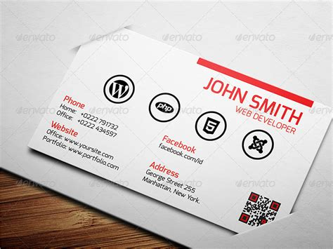 card for 15 web developer business card psd templates creative