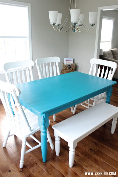 painting a dining room table chalky finish paint dining room table makeover