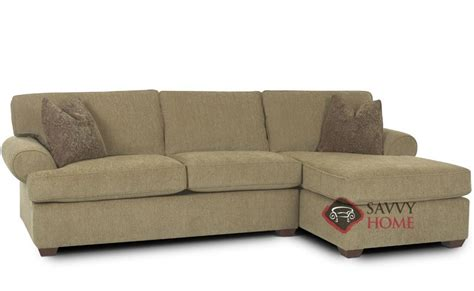 sectional sleeper sofa with chaise tacoma fabric chaise sectional by savvy is fully