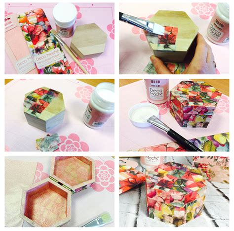 how to use decoupage paper deco mache decoupage papers tutorial project ideas