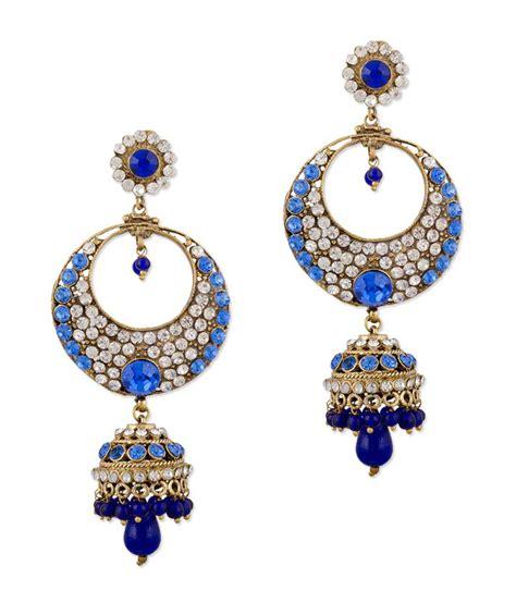 blue fashion jewelry bazarvilla designer royal blue pearl fashion jewelry