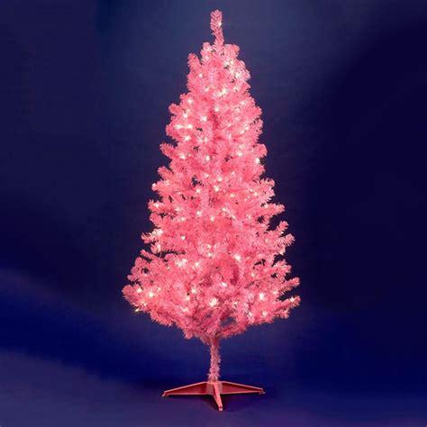 pink tree lights prelit pink tree